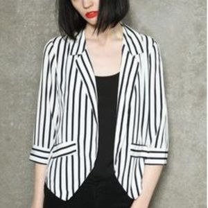 Sparkle & Fade striped blazer